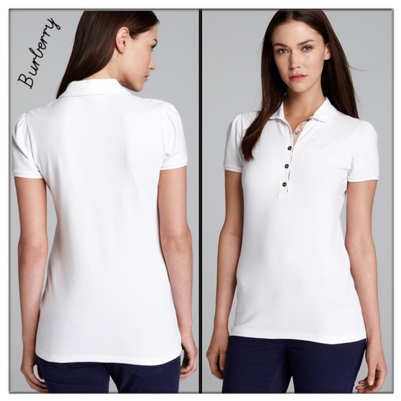 Burberry Tops - 🍀Burberry Women s white Peter Pan collar Polo 514606cb2a